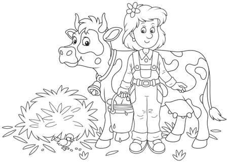 Lechera y vaca
