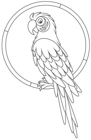 Parrot resting on a ring icon