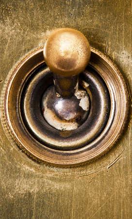 edwardian: Old Edwardian era light switch  Stock Photo