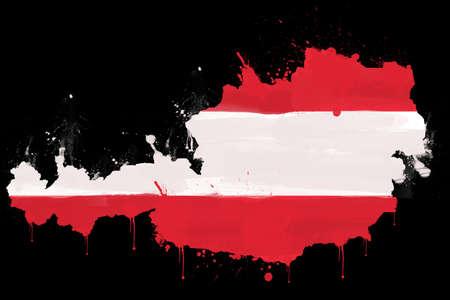 austrian: Austrian flag Illustration