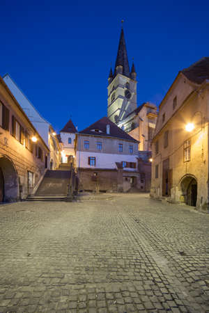 Medieval stairway passage in SIbiu photo