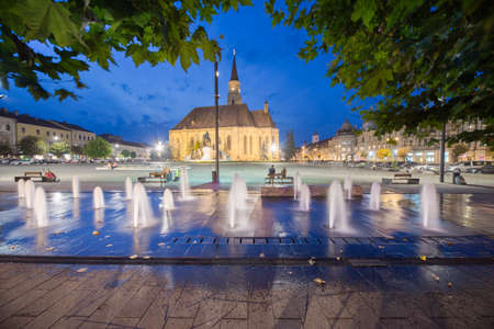 cluj: Image showing the main square in Cluj, Union Square