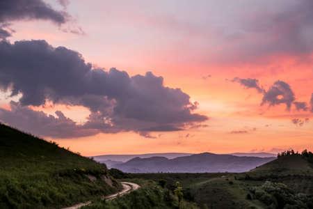 dramatic: Dramatic sky at sunset
