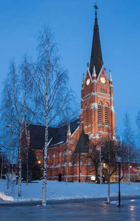 morning blue hour: Church in Lulea