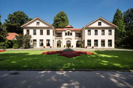 A large luxurious residence in the park in Prague, the Czech Republik Editorial