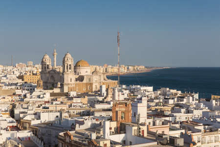 View of Cadiz, Spain from the Torre Tavira.