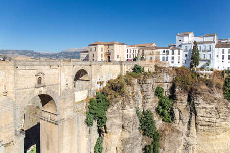 Beautiful city of Ronda, Spain - cityscape on the Tajo Gorge