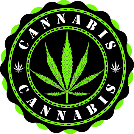 Awesome cannabis vector illustration. Illustration