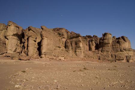 Timna park, desert, Solomons pillars photo