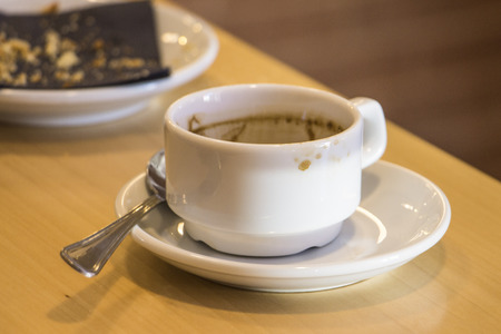 expressed: empty cup of coffee Stock Photo
