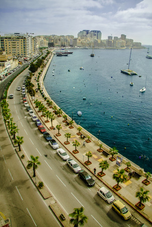grand strand: The Strand, Maltese seafront on the Grand Harbour
