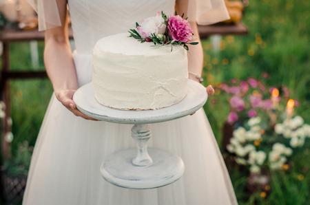 Bride in Wedding Dress Imagens