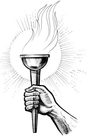 Hand with a torch