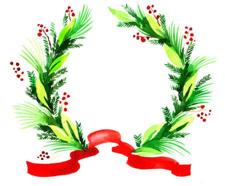 Christmas decoration. Ink illustration Stock Photo