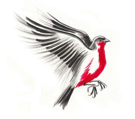 Rode robin vliegen