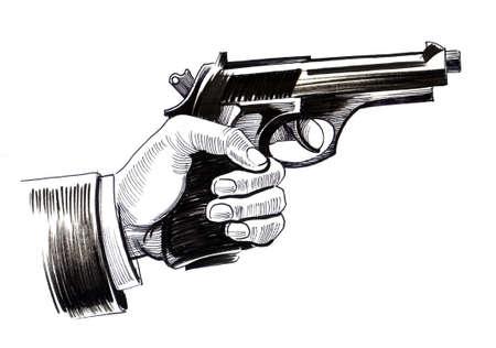 銃を持つ手 写真素材