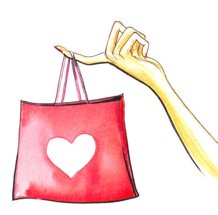 Hand with a shopping bag