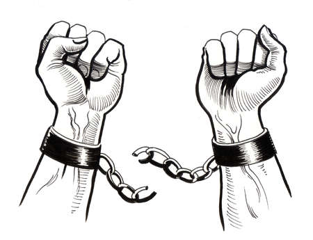 Breaking chains 스톡 콘텐츠