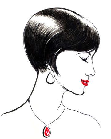 Beautiful woman 版權商用圖片