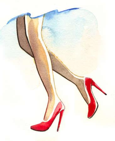 Mooie benen Stockfoto