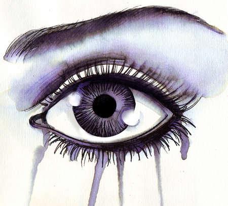 Crying eye Stockfoto