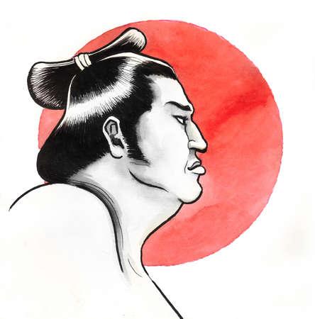 Sumo wrestler Archivio Fotografico