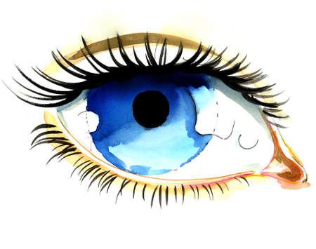 Beautiful blue eye Imagens