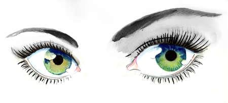美しい緑色の目