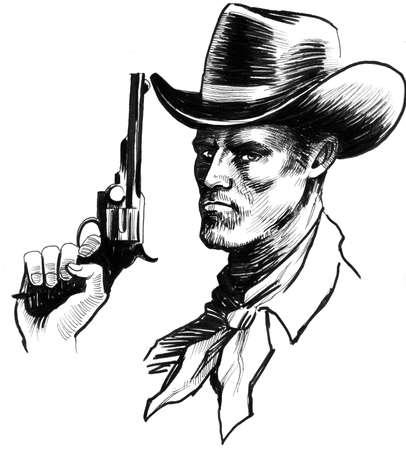 총을 든 카우보이 스톡 콘텐츠 - 94298050