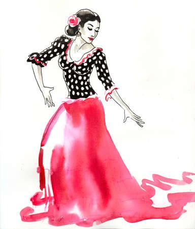 Spanish flamenco dancer Banque d'images