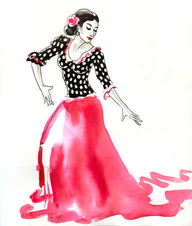 Spanish flamenco dancer 免版税图像