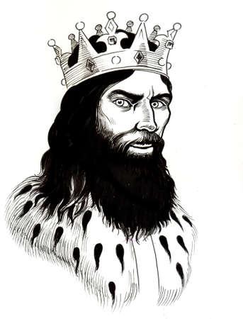 왕관에 왕이있다. 스톡 콘텐츠