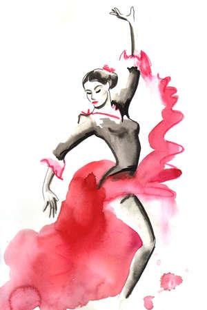 Dancing flamenco Banque d'images