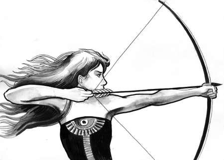 Beautiful female archer