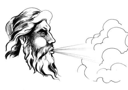 God of wind Фото со стока - 134649669