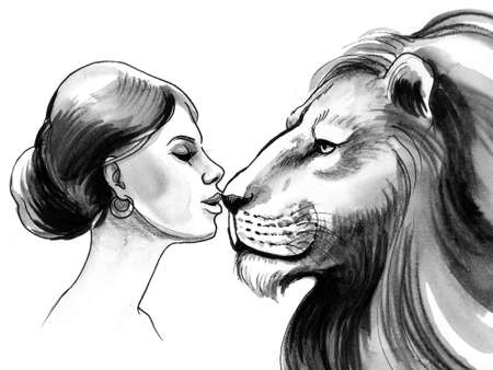 Beauty and lion