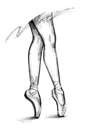 Ballerina legs 스톡 콘텐츠