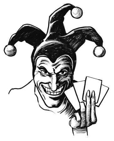 Joker with cards Foto de archivo - 103552259