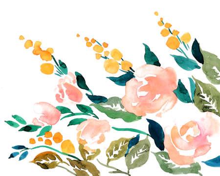Watercolor flowers Imagens