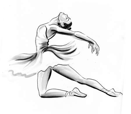Dancing ballerina.