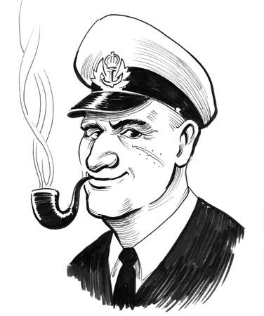 Captain with a smoking pipe