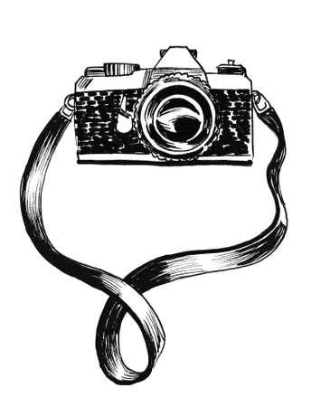 Vintage camera illustration. Stok Fotoğraf