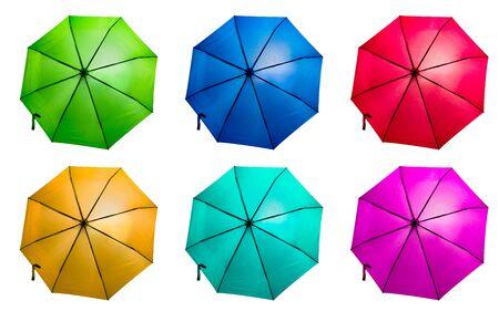 Set of various colorful umbrellas Фото со стока