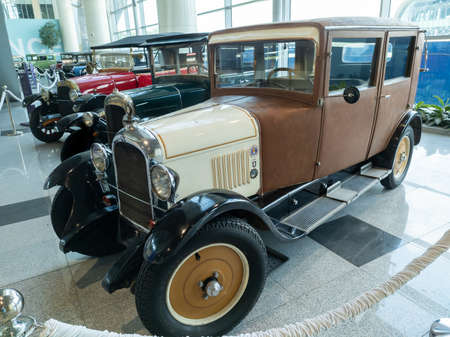 Domodedovo, Russia -June 27, 2020: Citroen B Conduite at the exhibition of retro cars in Domodedovo airport