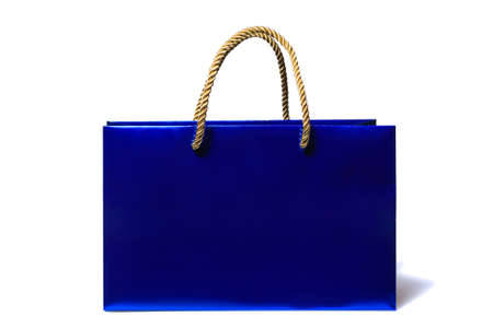 Blue shopping and gift bag