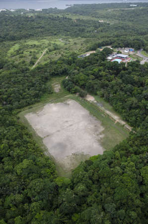amazon forest: A soccer field in the middle of the rain forest, close to Manaus at Amazon Forest
