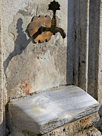 source of iron: Ancient plumbing in Istanbul city Really old source of water used by hundreds generation of people from Byzantine time till nowadays