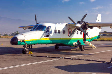 turboprop: Small Turboprop Aircraft at airport