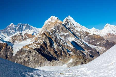 Mountain Scenery of high Peaks in Himalaya