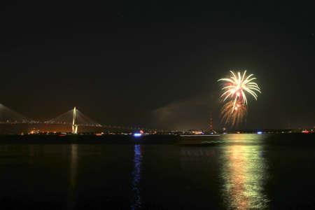 Independence day firework in Charleston